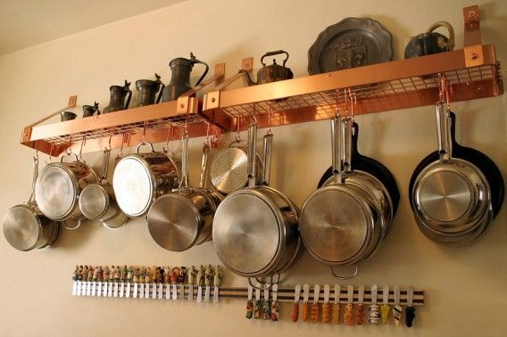 pot rack above cabinets - Google Search