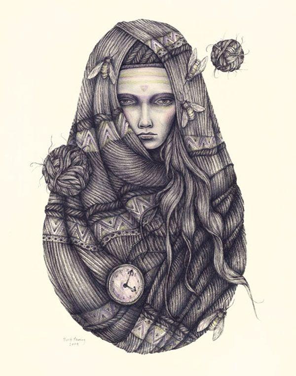 Brett Manning | Ink Drawings | bumbumbum
