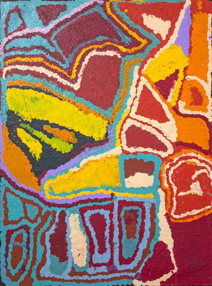 Mabel Wakarta - Sans Titre - 122 x 91 cm - 14-877 http://www.aboriginalsignature.com/martumiliartpeintureaborigene/mabel-wakarta-sans-titre-122-x-91-cm-14-877