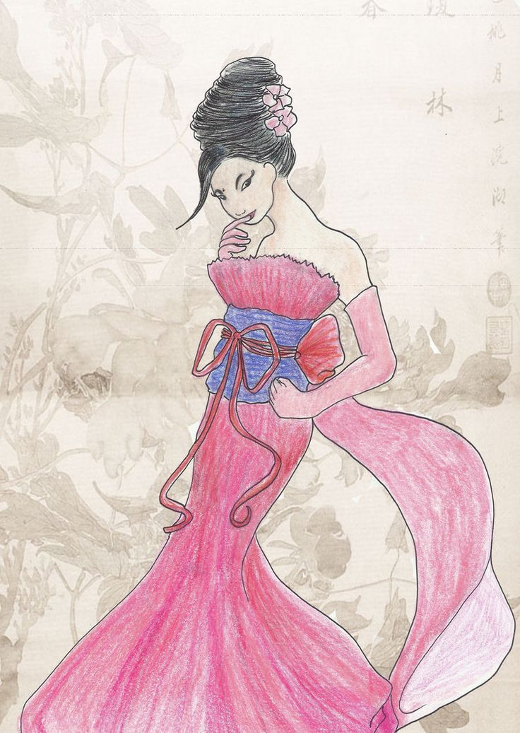 mulan pink dress pictures - 736×1037