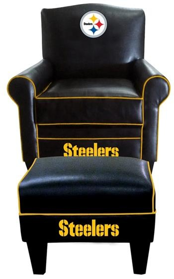 Superior Pittsburgh Steelers~ Leather Game Time Chair And Ottoman