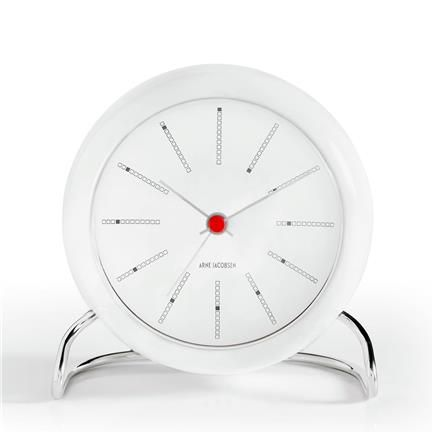AJ Bankers Table Clock with Alarm Clock, white/white, Arne Jacobsen, Rosendahl Pris 695 kr ØNSKER - 2 stk