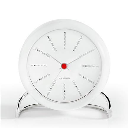 AJ Bankers Table Clock with Alarm Clock, white/white, Arne Jacobsen, Rosendahl Pris 695 kr ØNSKER - 2 stk