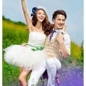 花嫁ドレス パーティードレス Wedding ウエディングドレス ミニドレス 二次会ドレス 結婚式 演奏会 披露宴ドレス