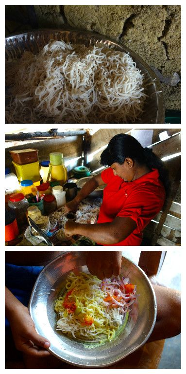 String hoppers - Home made rice noodles - Authentic Sri Lankan video recipe from a village in Sri Lanka - Best with coconut curry and onion sambal (source: my personnal food and travel blog / vlog with recipes, authentic video recipes, street food, food and travel documentary, travel info and more. Welcome! :) )