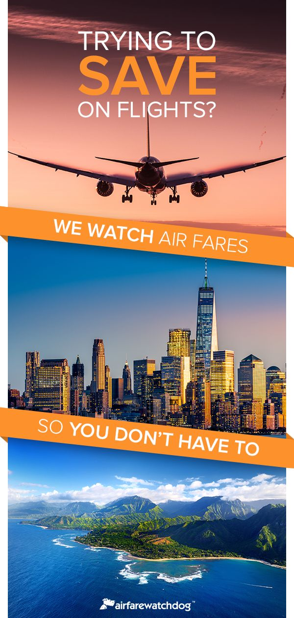Stop overpaying for flights and start saving big with Airfarewatchdog. Just tell us where you want to fly to and our team of fare experts will scour the web for the best flight deals. Find out how much you could save today.