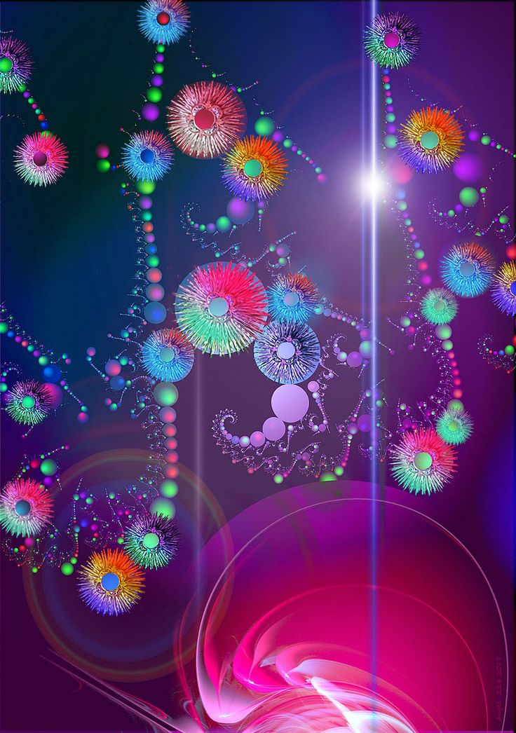 another never ending fractal forms characterized by its colorfulness