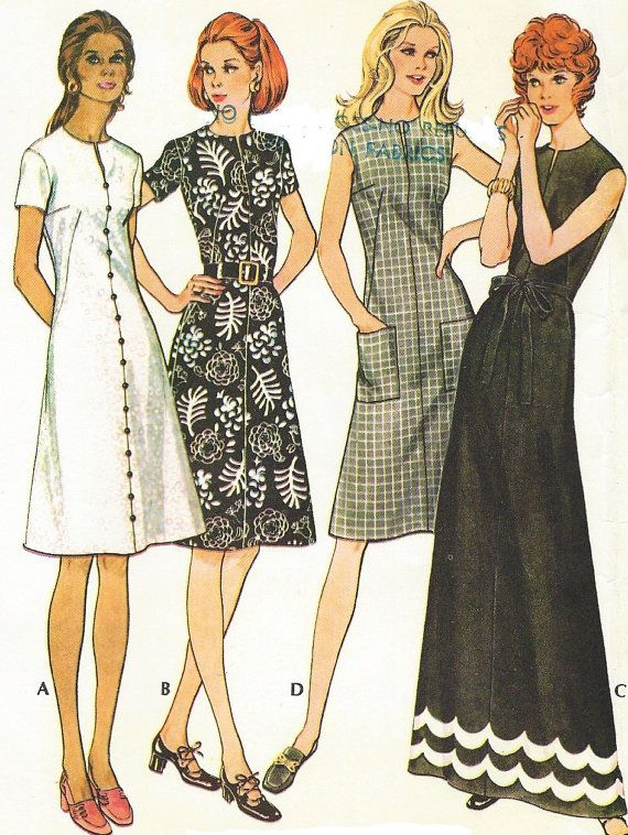 1970s Womens A Line Dress Easy Knits Day or Evening Length McCalls Sewing Pattern 3133 Size 12 Bust 34 Suitable for Knits