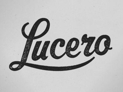 Lucero logo ...future last name (: