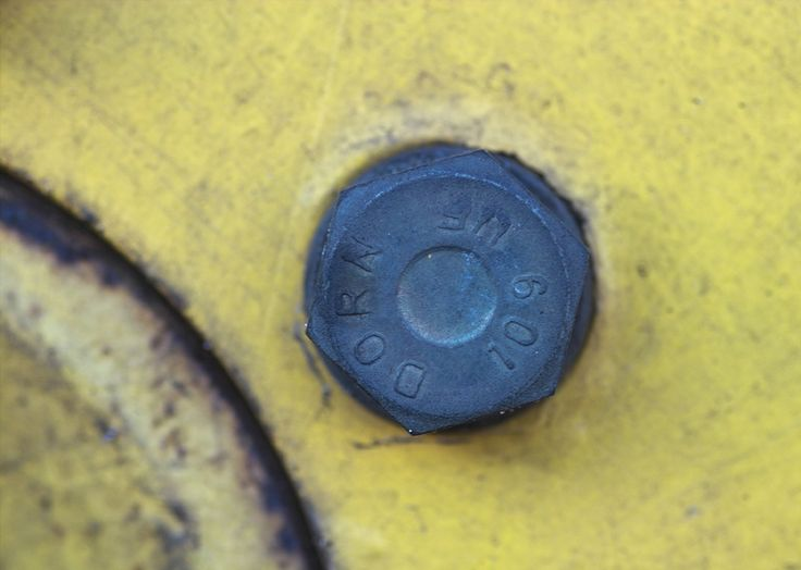 nut from a tractor wheel