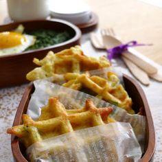 Gaufres de pommes de terre au gruyère | Recettes pour mon bentô
