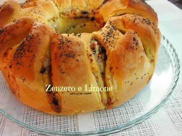 CIAMBELLA di PAN BRIOCHE | ricetta salata | Zenzero e Limone: da provare!