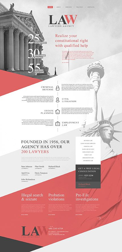 Law #Most Popular #Responsive JavaScript Animated / Template #58753