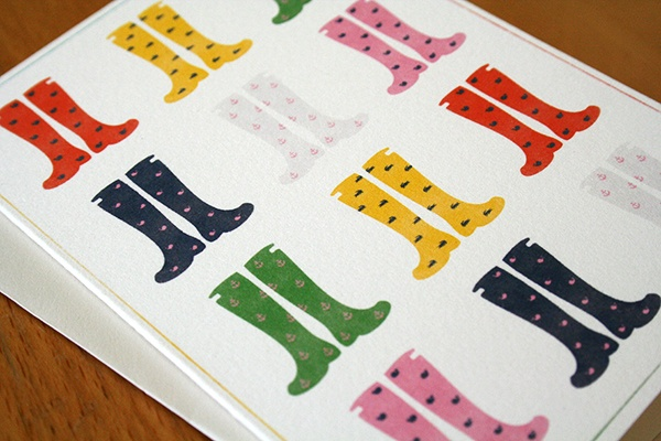 Rain boots, preppy: April Cards, Cards Ideas, Boots Notecard, Rain Boots, Shops, Handmade Cards, Preppy, Note Cards