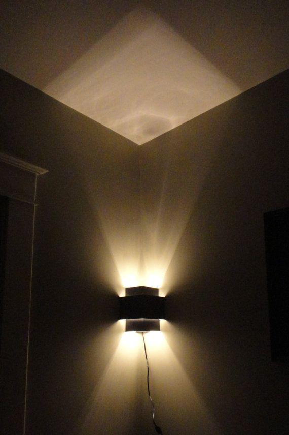 Corner Lamp Wall Light Fixture by JesssCreativeCorner on Etsy
