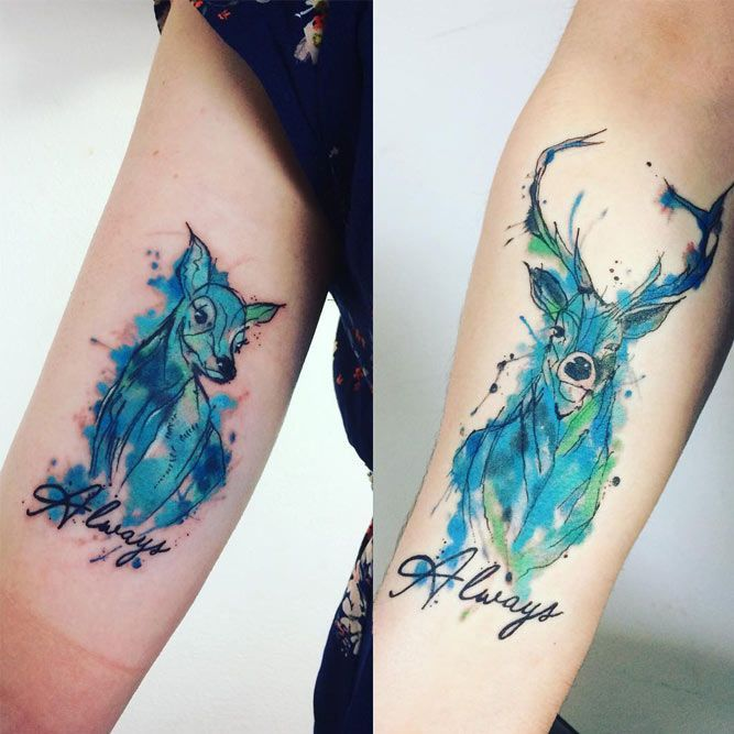 17 Harry Potter Tattoos For True Fans Of The Magical Story Harry Potter Tattoos Patronus Tattoo Tattoos
