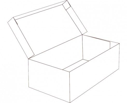 Hinged Lid Shoe Box Shape Free Box Templates To Download