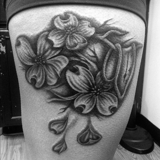 dogwood flower tattoo (12)
