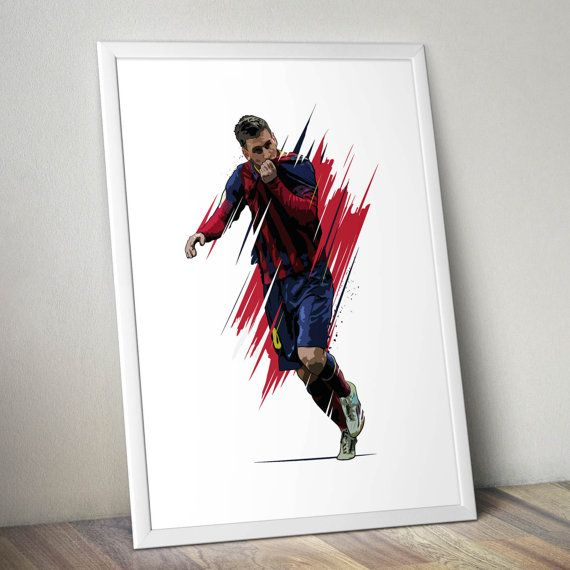 Lionel Messi FC Barcelona Passion Print. by KieranCarrollDesign