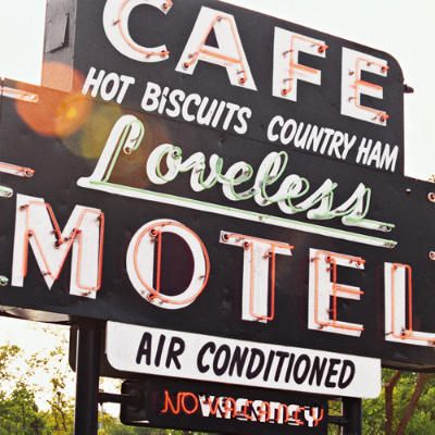 Loveless Motel and Café, Nashville, Tennessee -- For more than 50 years, Nashville residents and visitors have made the trek to the Loveless for some of the best scratch biscuits and crispiest fried chicken in Tennessee. (Photo: Gary Clark; Article: Travel Editors, Southern Living)