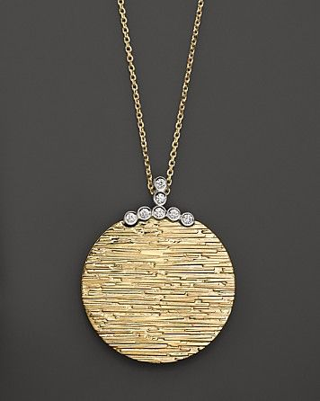 Roberto Coin Diamond Elephantino Circle Necklace in 18K Gold - Roberto Coin - Featured Designers - Fine Jewelry - Bloomingdale's
