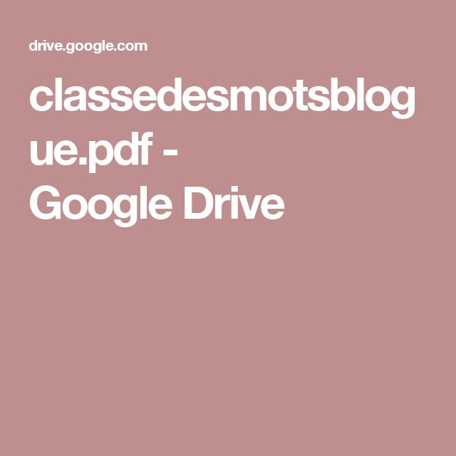 classedesmotsblogue.pdf - GoogleDrive