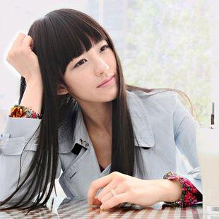 Длинные прямые парик девушки парик женский длинные прямые волосы черные элегантный пр скучно