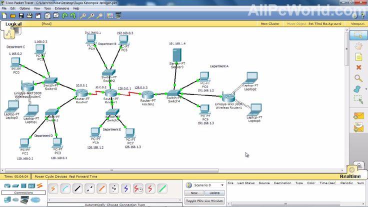 cisco Packet Tracer virtual environment