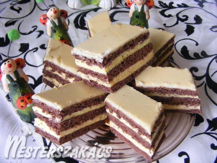 Rumos-vaníliás szelet