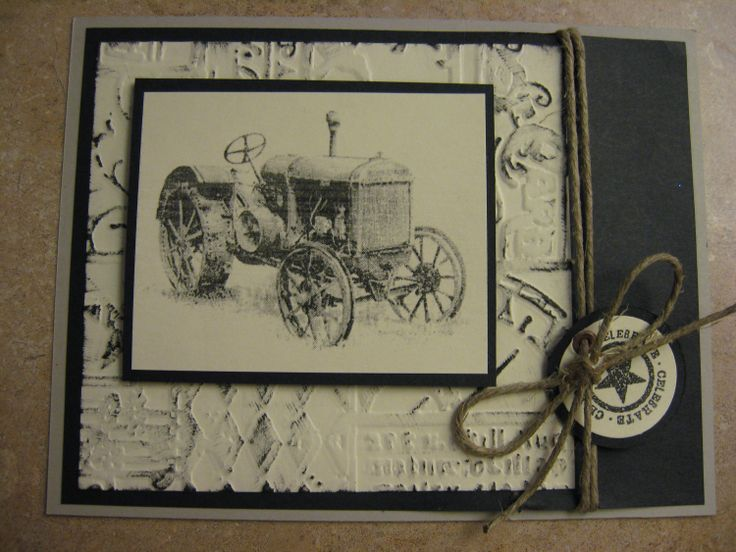 Vintage Birthday Cards For Him ~ Best tractor cards images man card masculine