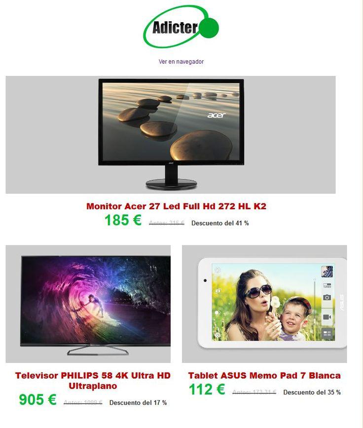 Buenos días, empezamos la semana con unas ofertas increíbles!!! Ver ofertas en www.adicter.com