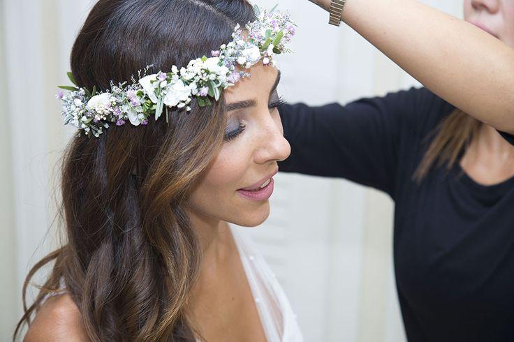 coronas de migajon para novias | corona de flores novia | EN UNA NUBE