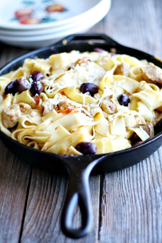 Mediterranean Pasta Skillet - Heather's French Press one pot meal