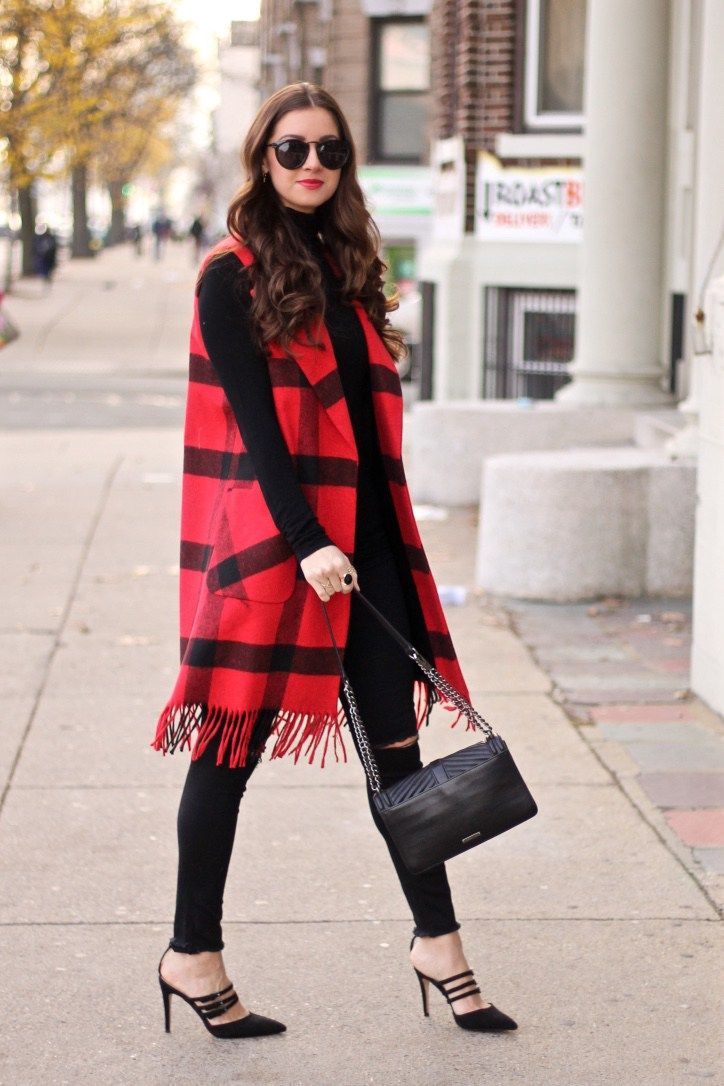 red plaid with all black everything else real life fall winter style pinterest red plaid. Black Bedroom Furniture Sets. Home Design Ideas