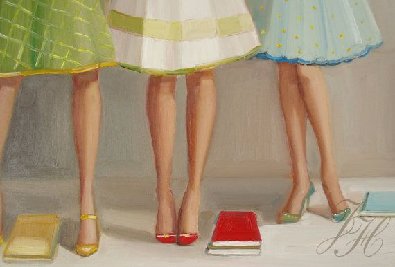 Library Ladies - Janet Hill