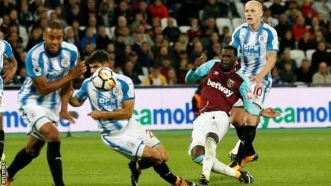 Pedro Obiang was the first player other than Javier Hernandez to score for West Ham in the league this season  Pedro  Obiang's heavily deflected goal was the moment of luck West Ham needed  to set them on the way to their first points of the Premier League  season as Huddersfield suffered their first defeat.  The Hammers  whose manager Slaven Bilic was under pressure after three successive  league defeats were below par - although the visitors offered little  threat. Javier Hernandez hit the…
