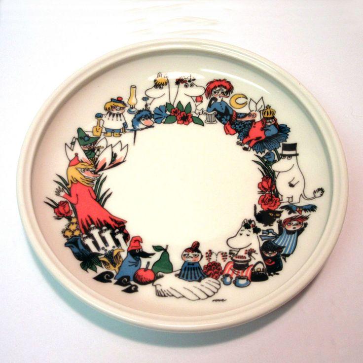 Arabia of Finland Moomin Child's Plate Tove Slotte Signed Rare Vintage Porcelain #ArabiaFinland #ToveSlotte #vintageforsale