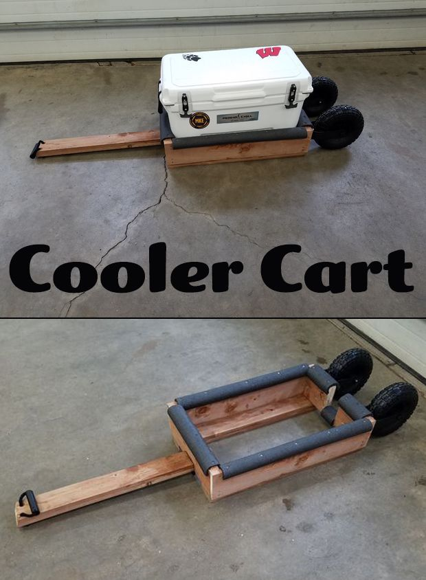 Make a simple, cost effective, and robust cart to carry your cooler!