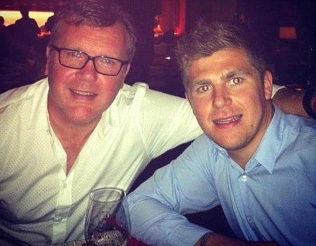 This was diagnosed as Lyme Disease last May, four years after Kirk says he contracted the illness from a tick bite while working in Sydney. He is pictured with his father, Nigel Haworth