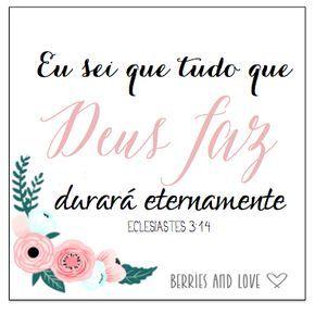 Frases e versículos para o convite de casamento - Berries and Love                                                                                                                                                      Mais