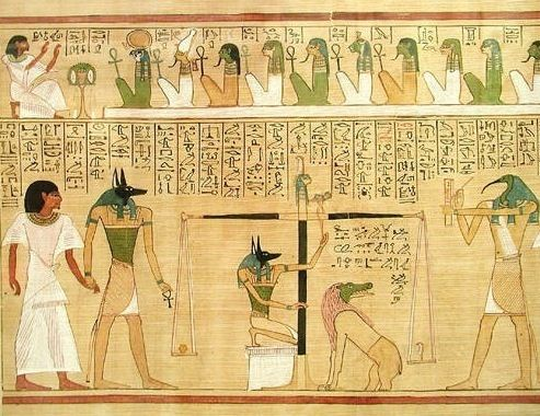 BD Hunefer cropped 1 - Ancient Egyptian religion - Wikipedia, the free encyclopedia