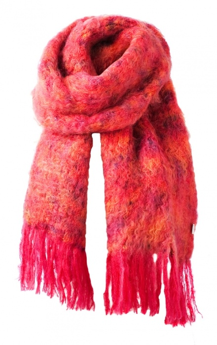 BALMUIR Kid Mohair Scarf, Sunset Red - Balmuir - Exclusive Collection