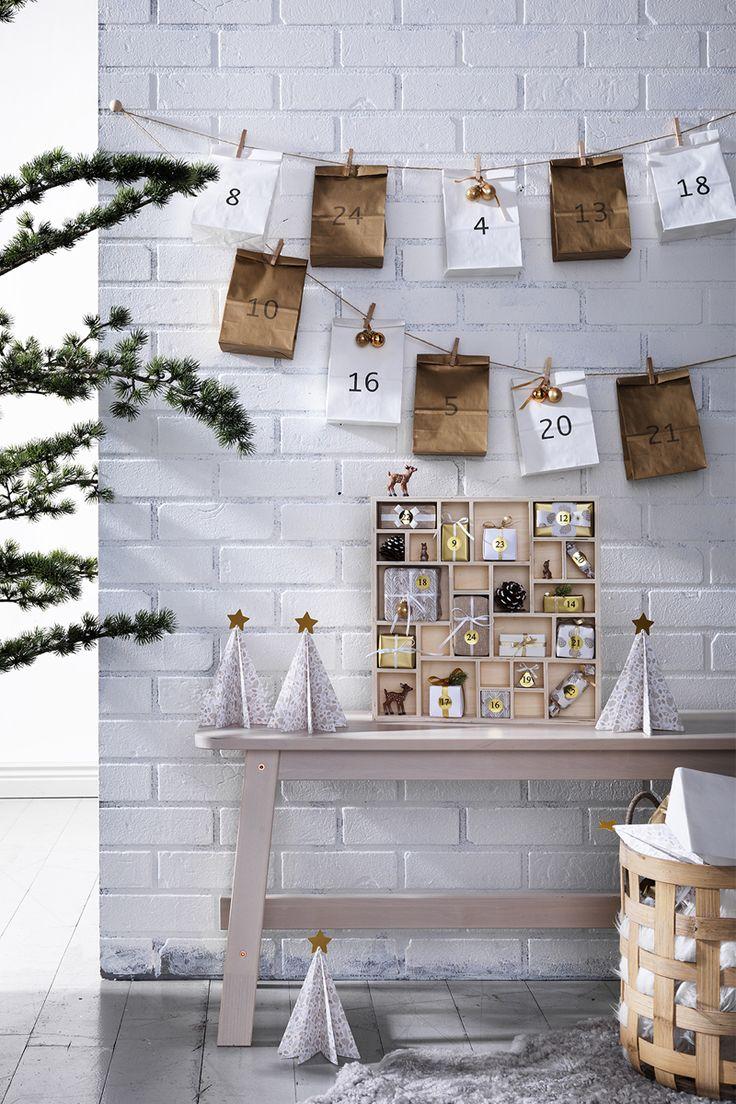 Christmas countdown www.pandurohobby.com Christmas Decor by Panduro #christmas #decoration #DIY #ornaments #christmascalendar #advent #giftwrapping #julkalender #kalender #paketkalender #adventkalender #adventskalender #jul #christmascountdown #kalenderpåsar #Scandinavian #jul