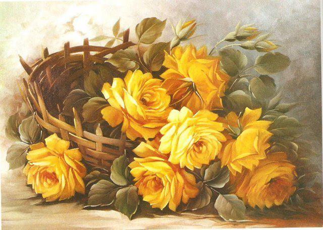 Желтые розы картинки для декупажа