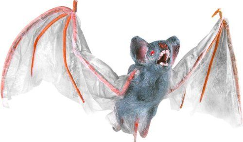 114 best halloween images on pinterest halloween for Animated flying bat decoration