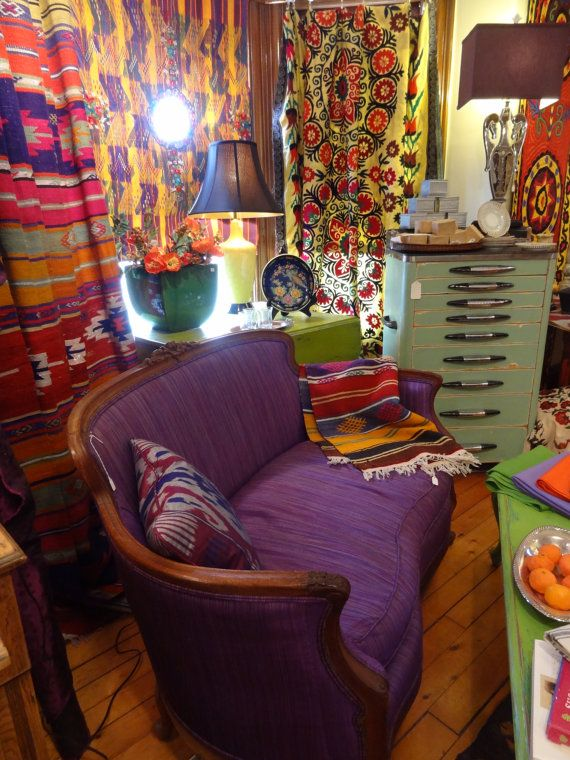 Fashion Inspired Guest Room: Gypsy Inspired Boho Living Room