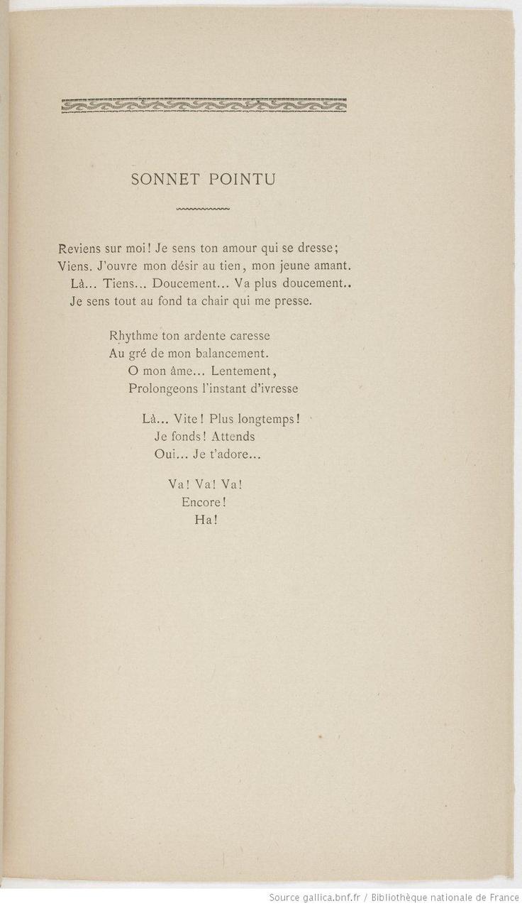 Poèmes offrent le sexe