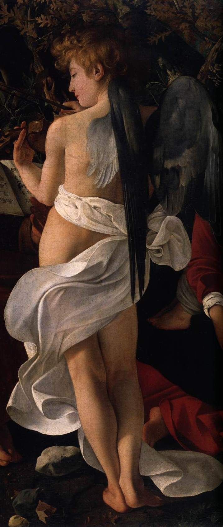 Caravaggio: Rest on the Flight into Egypt (c. 1597), detail