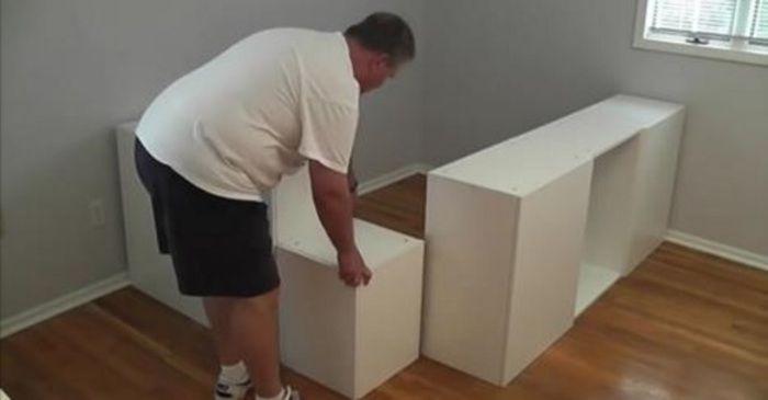 Hele slimme manier om opslagruimte te vergroten in een kleine slaapkamer.