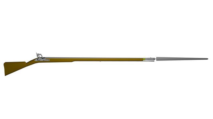 Free Brown Bess Musket 3D Model - 3D Model